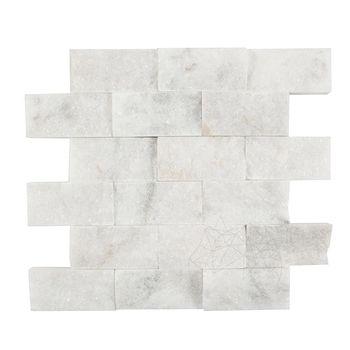купить Мозаика Мраморная Мугла Белая Scapitata 5 х 10см в Кишинёве