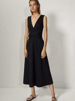 Платье Massimo Dutti Чёрный 6634/583/800
