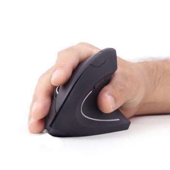 cumpără Wireless Mouse Gembird MUSW-ERGO-01, Optical, 800-1600 dpi, 6 buttons, Ergonomic, 1xAA, Black în Chișinău