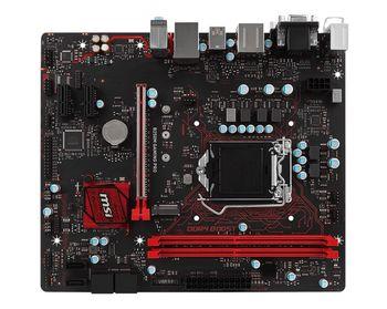 MSI B250M GAMING PRO + Bonus (Gaming Mouse 'DSB1'), Socket 1151, Intel® B250, Dual 2xDDR4-2400, 1xPCIe X16, CPU Intel graphics, DVI, HDMI, 6xSATA3, 1xM.2 slot, 2xPCIe X1, ALC887 7.1ch HDA, GigabitLAN, 1xUSB3.1/Type-C, 5xUSB3.1, MС 5, mATX