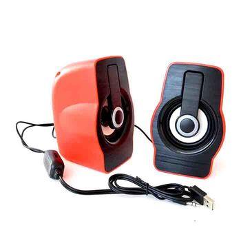 Компьютерные колонки, PRIME USB, Пластик, Красный/Черный, USB/AUX