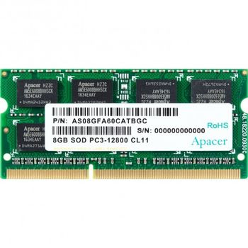 8GB DDR3 1600MHz SODIMM 204pin Apacer