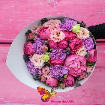 купить Нежный букет в розово-лавандовой гамме в Кишинёве