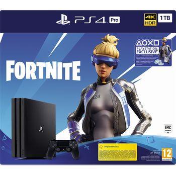 cumpără Game Console Sony PlayStation 4 Pro 1TB Black, 1 x Gamepad (Dualshock 4) + Fortnite în Chișinău