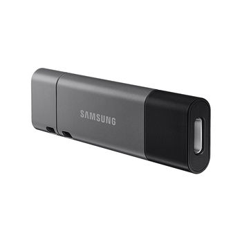 64GB USB Flash Drive Samsung DUO Plus Type-C MUF-64DB/APC, Read 300MB/s, Black, USB 3.1, USB Type-C, waterproof, shock-proof, temperature-proof, magnet-proof, and X-ray-proof, (memorie portabila Flash USB/внешний накопитель флеш память USB)
