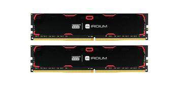 8Gb (Kit of 2*4GB) DDR4-2400  GOODRAM  IRDM DDR4 (Dual Channel Kit), PC19200, CL17, Latency 17-17-17, 1.2V, 512x8, Aluminium BLACK heatsink