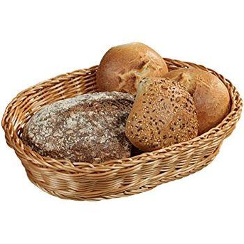 cumpără Coș de răchită pentru pâine ovală 33x25x7 cm 17821 în Chișinău