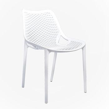 купить Стул пластиковый со спины и сиденья перфорированные, белый в Кишинёве