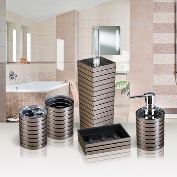 купить Гарнитур для туалета KING TOWER BRONZE акрил 12608 в Кишинёве