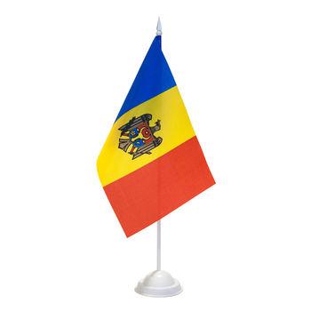 купить Флажок настольный на пластиковом флагштоке - Молдова или друге страны в Кишинёве