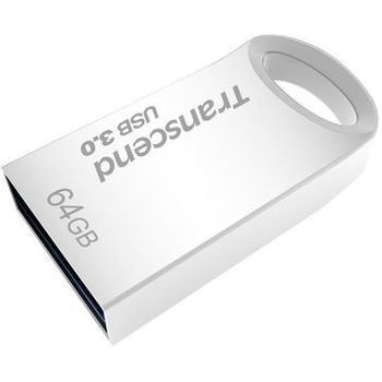 64GB USB3.0  Transcend JetFlash 710 Silver, Metal Case, Ultra-Small (Read 90 MByte/s, Write 12 MByte/s)