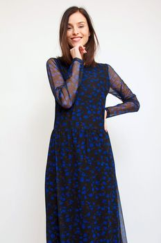 Платье CO'COUTURE Черный/синий 76325