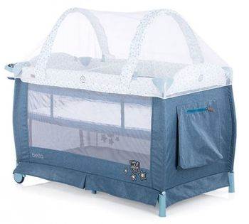 купить Кроватка-манеж Chipolino Bella Blue в Кишинёве