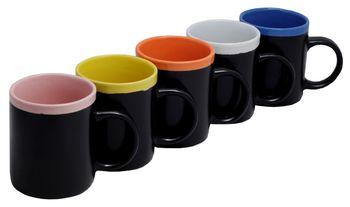 купить Чашка черная с разноцветной каймой в Кишинёве