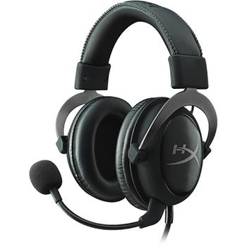 HyperX Cloud II Headset, Metal, Solid aluminium build, Microphone: detachable, USB Surround Sound 7.1, Frequency response: 15Hz–25,000 Hz, Cable length:1m+2m extension, 3.5 jack, Pure Hi-Fi capable, Braided cable, Durable travel pouch