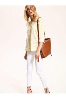 Блуза TOP SECRET Желтый с принтом SKL2355ZO