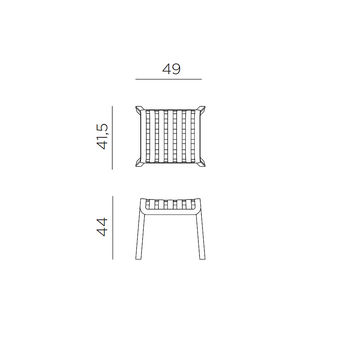 Табурет подставка для ног Nardi POGGIO TORTORA 40044.10.000 (Табурет подставка для ног для сада лежака террасы балкон)