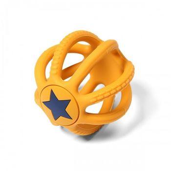 купить Грызунок силиконовый  Babyono ORTHO желтый в Кишинёве