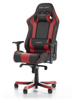 Gaming Chairs DXRacer - King GC-K06-NR-S3, Black/Red/Black - PU leather & Carbon look PVC,Gamer weight up to 150kg/growth 160-195cm,Foam Density 54kg/m3,5-star Wide Alum Base,Gas Lift 4 Class,Recline 90*-135*,Armrests:4D,Pillow-2,Caster-3*PU,W-30kg
