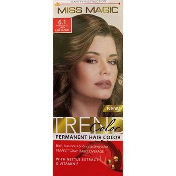 Краска для волос,SOLVEX Miss Magic, 90 мл., 6.1 - Тёмно-русый пепельный