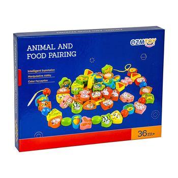 """Шнуровка """"Животные и их еда"""", код 119626"""
