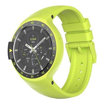 "Mobvoi  Ticwatch S  Auora Yellow, 1.4"" OLED Touch Display, Wear OS by Google, 512MB/4GB, GPS, Time, Mic/Speaker for incoming calls, Heart Rate, Steps, Alarm, Distance Display, Average Daily Steps, Weather, Notifications, IP67, 48Hrs+, BT4.1, 45.5g"