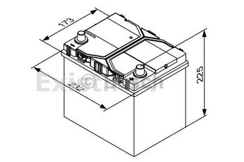 Bosch Start-Stop EFB-AGM 12V 65Ah 650EN 232x175x225 -/+