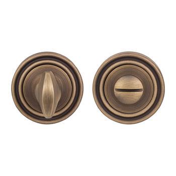 Дверная ручка на розетке Timeless матовая бронза + накладка WC