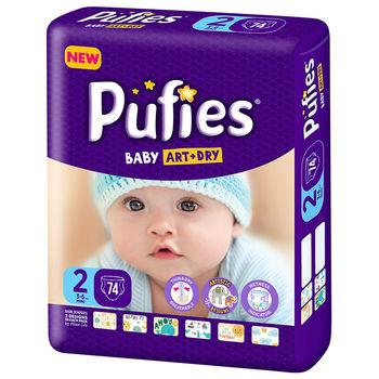 купить Pufies подгузники Baby ArtDry Mini 2, 3-6 кг, 74 шт. в Кишинёве
