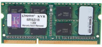 8Gb DDR3-1600 Kingston ValueRam PC12800 CL11 1.35V SODIMM