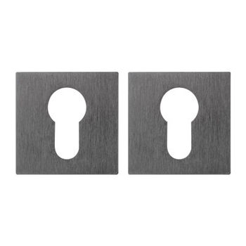 Дверная ручка на розетке Flake полированный хром  + накладка под цилиндр