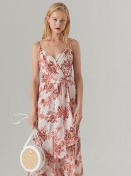 Платье MOHITO Бежевый с принтом