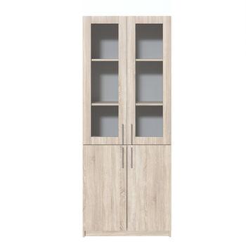 Office Line №2 Шкаф закрытого типа со стеклом дуб сонома