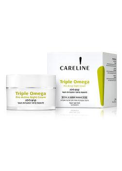 """Ночной крем для всех типов кожи лица Careline Серии """"Triple Omega"""""""