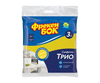 купить Целлюлозные салфетки для уборки Фрекен Бок Трио, 3 шт. в Кишинёве