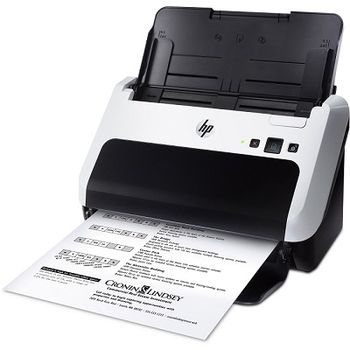 Document Scanner HP ScanJet Pro 3000 s2, Single-pass duplex ADF (50 sheets), Multifeed detection, up to 20ppm/40ipm, up to 600dpi, Hi-Speed USB 2.0, up to 1000 pag./day, auto colour detection, page size detection, crop, rotation, blank page removal