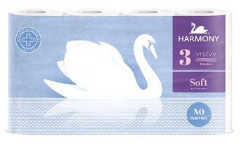 Туалетная бумага Harmony Soft 3 слоя 17.5м*8