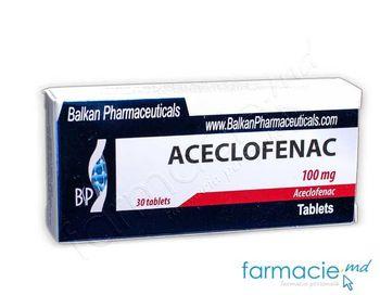 купить Aceclofenac comp. 100 mg N10x3 (Balkan) в Кишинёве