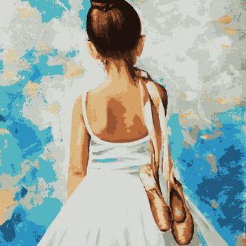 "PN3308 Картина по номерам Artissimo ""Ballet"" 4 *, 15 цветов, 40x50 см."