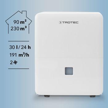 купить Осушитель воздуха Trotec TTK 96 E 30 л/день, 90 м.кв. в Кишинёве