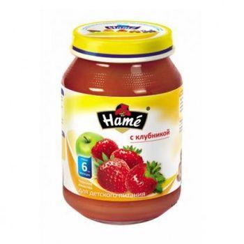 купить Hame пюре яблоки с клубникой 6+меc. 190г в Кишинёве