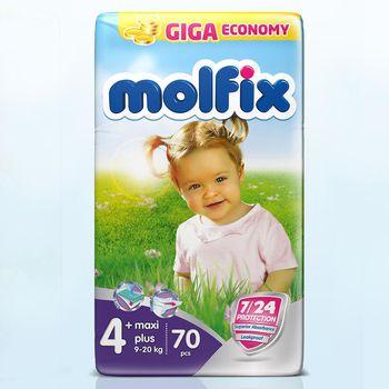 Molfix  подгузники Dev 4+ (9-20 кг) (70 шт.)