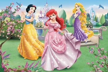 "14135 Trefl Puzzles - ""24 Maxi"" - By the fountain / Disney Princess"