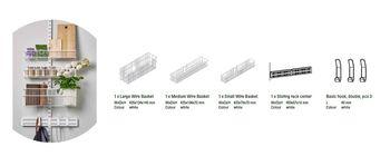 купить Набор для дверей/стен, состоящий из 3 маленьких металлических белых корзин в Кишинёве