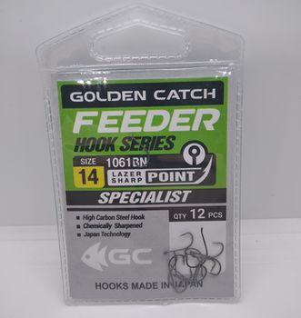 Крючки Golden Catch Feeder Nr14, 12шт