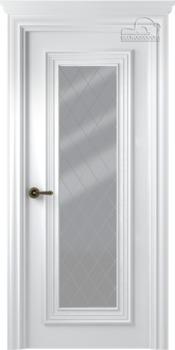 купить Дверь ПАЛАЦЦО 1 эмаль белый остекленная в Кишинёве