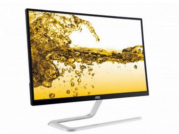 "21.5"" AOC IPS LED i2281fwh Black Borderless (4ms, 50M:1, 250cd, 1920x1080, HDMIx2, Audio out, VESA)"
