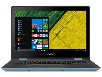 """ACER Spin 1 Turquoise Blue (NX.GL7EU.002) 2-in-1 Tablet PC 360°, 13.3"""" TOUCH FullHD (Intel® Pentium®  N4200 1.10GHz (Apollo Lake), 4Gb DDR4 RAM, 128Gb SSD, Intel® HD Graphics 505, WiFi-AC/BT4.0, 4cell, HD webcam, RUS, W10HE64, 1.6kg,19.8 mm)"""