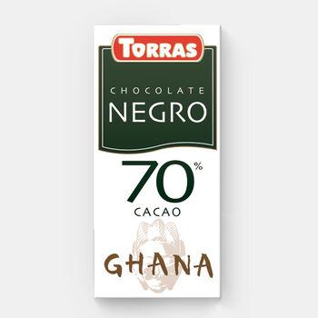 Ciocolata amara Africa 70% f/a gluten Torras 125g