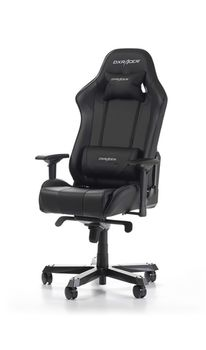 Gaming Chairs DXRacer - King GC-K06-N-S3, Black/Black/Black - PU leather & Carbon look PVC, Gamer weight up to 150kg/growth 160-195cm,Foam Density 54kg/m3,5-star Wide Alum Base,Gas Lift 4 Class,Recline 90*-135*,Armrests:4D,Pillow-2,Caster-3*PU,W-30kg